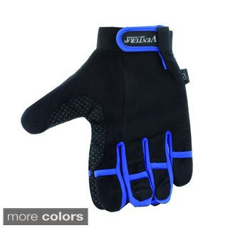 Ventura Medium Blue Full Finger Touch Gloves
