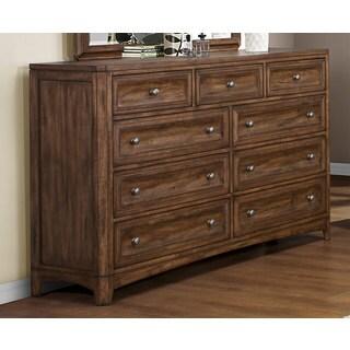 Emerald Harvest Brown 9-drawer Dresser