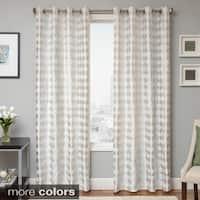 Softline Peyton Woven Jacquard Grommet Top Curtain Panel