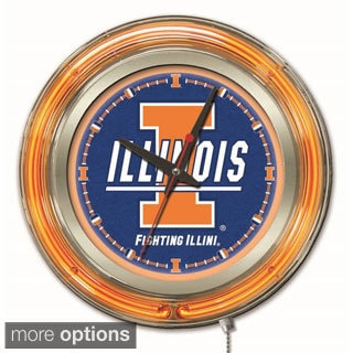 Holland Big Ten Logo Neon Clock