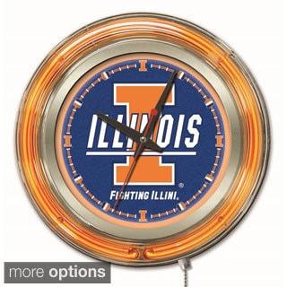 Holland Big Ten Logo Neon Clock