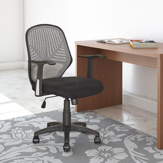 CorLiving LOF-209-O Black Mesh Office Chair