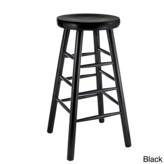 Backless Beech Wood Bar Stool