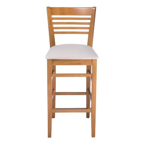 Venetian Upholstered Beech Wood Bar Stool