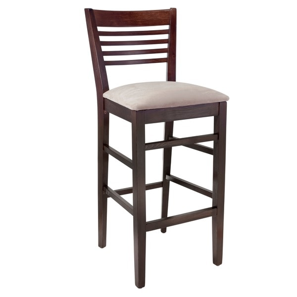 Shop Venetian Upholstered Beech Wood Bar Stool Free