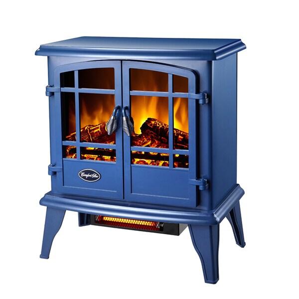 Shop Cg Keystone Quartz Electric Stove Blue Free