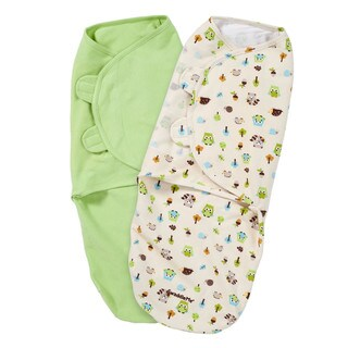 Summer Infant Swaddleme Green Cotton Knit Accs