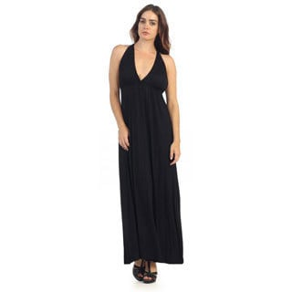 Hadari Women's Black Racerback Maxi Dress