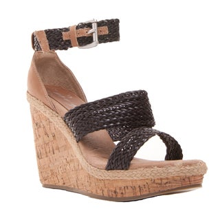 Women's Jaded Wedge Heel Ankle Strap Open-toe Cork Sandal