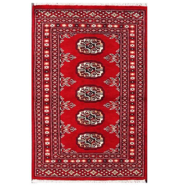 Herat Oriental Pakistani Hand-knotted Tribal Bokhara Wool Rug (1'11 x 3') - 1'11 x 3'