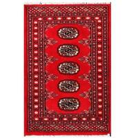 Handmade Herat Oriental Pakistani Tribal Bokhara Wool Rug (Pakistan) - 2' x 3'1