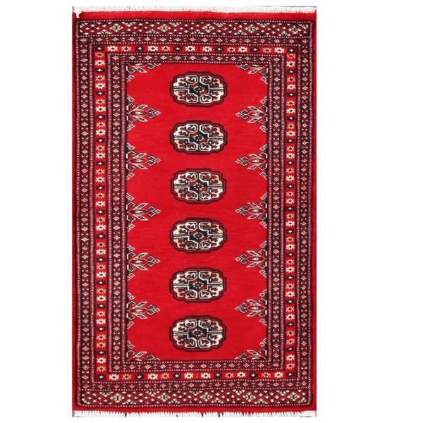 Handmade Herat Oriental Pakistani Tribal Bokhara Wool Rug (Pakistan) - 2' x 3'2