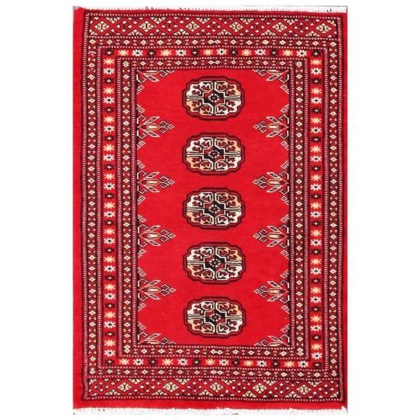 Handmade Bokhara Wool Rug (Pakistan) - 2' x 3'