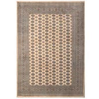 Herat Oriental Pakistani Hand-knotted Tribal Bokhara Wool Rug (9'1 x 12'8) - 9'1 x 12'8