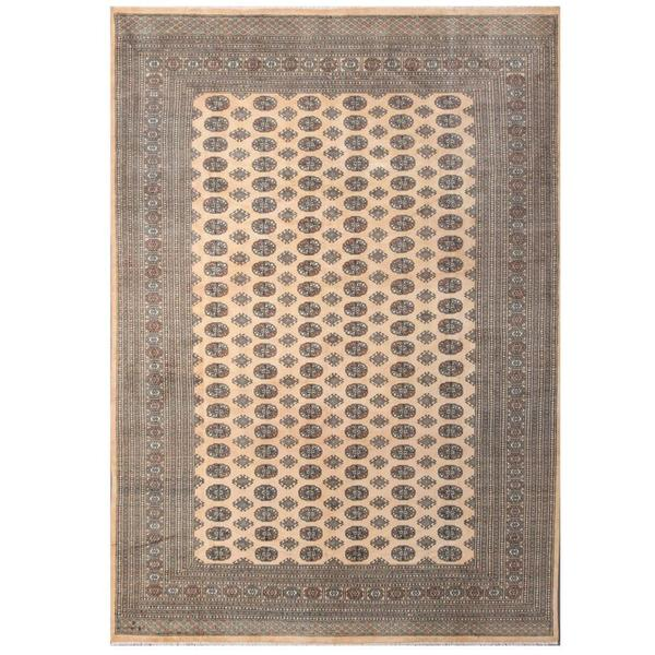 Persian Bokhara Hand Knotted Wool Area Rug: Shop Herat Oriental Pakistani Hand-knotted Tribal Bokhara