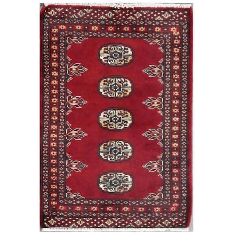 Handmade Bokhara Wool Rug (Pakistan) - 2' x 2'11
