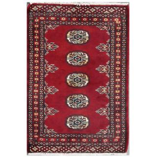 Handmade Herat Oriental Pakistani Tribal Bokhara Wool Rug (Pakistan) - 2' x 2'11
