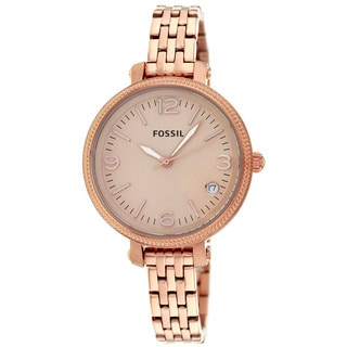 Fossil Women's ES3182 Heather Rosegold Stainless Steel Watch
