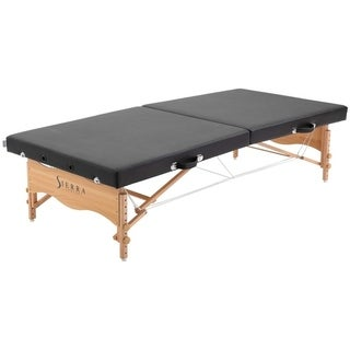 Sierra Comfort Wood/Polyurethane Portable Low-to-Ground Stretching Table