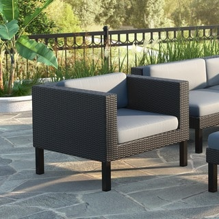 CorLiving Oakland Patio Chair in Textured Black Weave