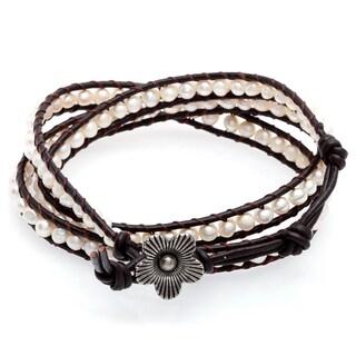 Handmade Three Wrap Bead Bracelet (Thailand) (5 options available)