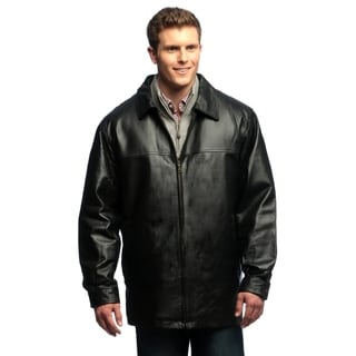Tanners Avenue Men's Genuine Leather Zip-front Half Coat with Zip-out Liner
