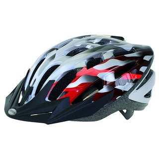 Ventura Silver/ Red In-Mold Helmet