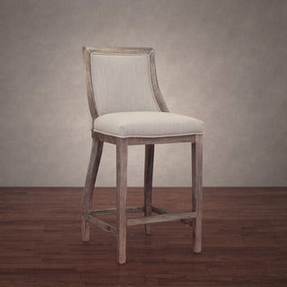 Park Avenue Beige Linen Counter Stool