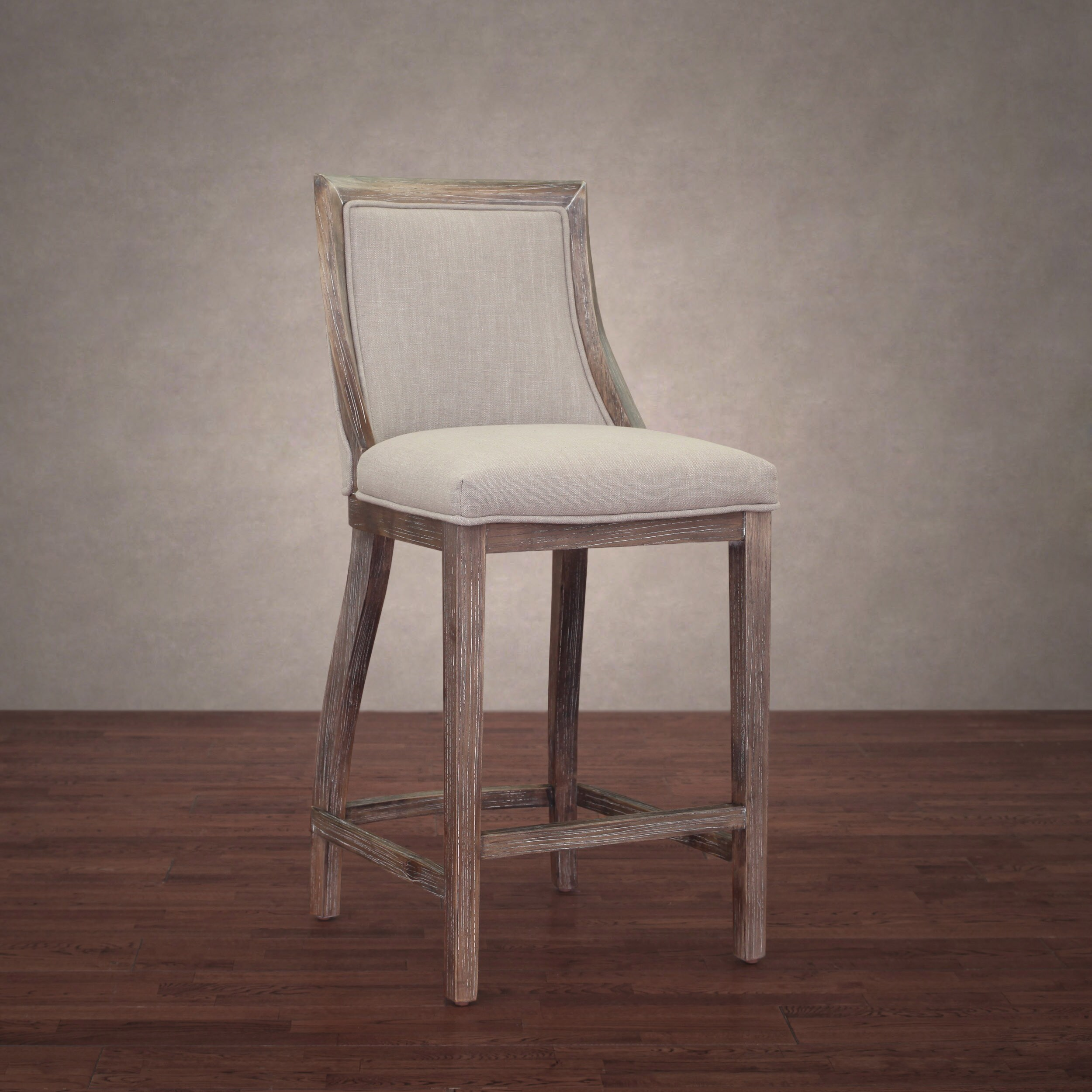 Wondrous The Gray Barn Park Avenue Beige Linen Counter Stool Ncnpc Chair Design For Home Ncnpcorg