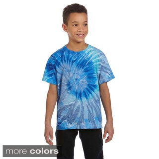 Youth Cotton Tie-dyed T-shirt (More options available)