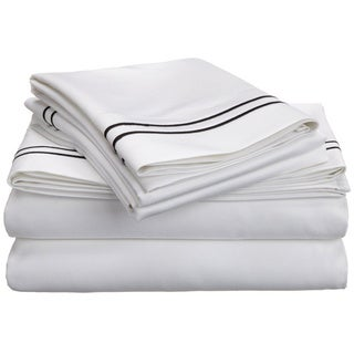 Superior Egyptian Cotton 800 Thread Count Embroidered Bed Sheet Set