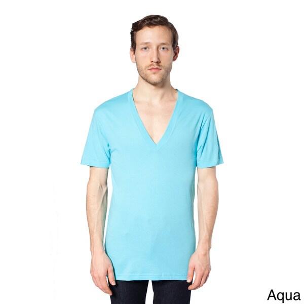 American apparel unisex sheer jersey deep v neck t shirt for American apparel mesh shirt