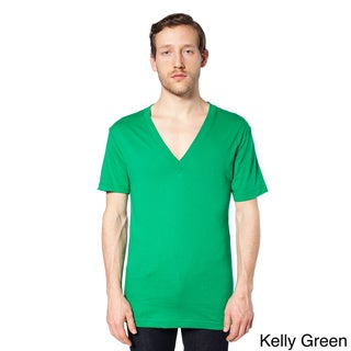 American Apparel Unisex Sheer Jersey Deep V-neck T-shirt