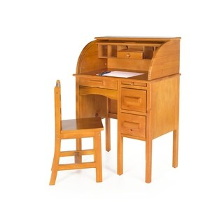 Jr Rolltop Light Oak Desk - Brown
