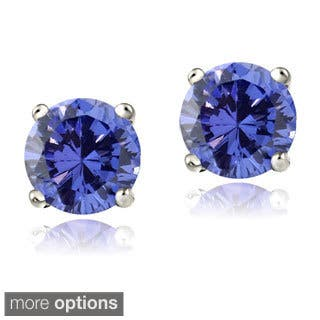 tanzanite gemporia us in sapphire with white earrings silver gold en aa