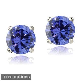 oval colleen earrings d sterling tanzanite silver stud shopping hsn online lopez sparkle