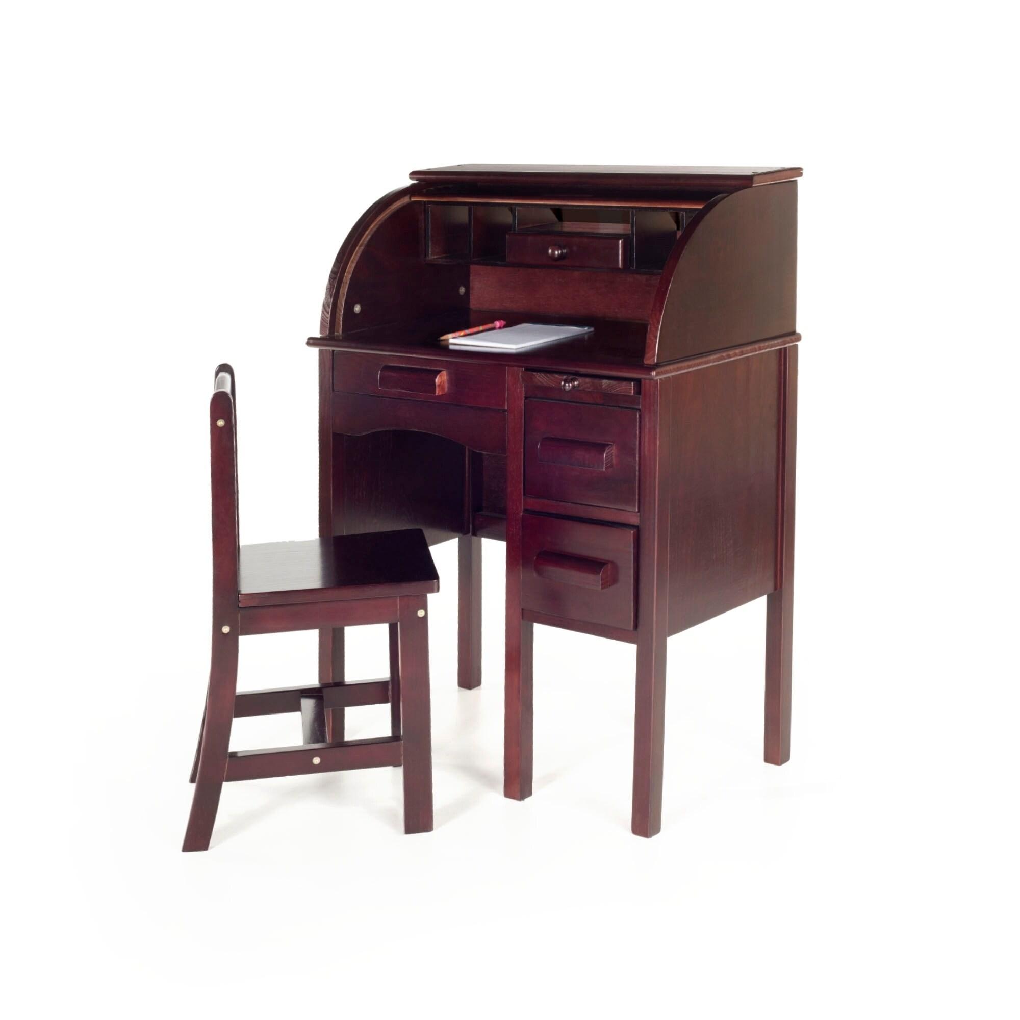 Guidecraft Jr Roll Espresso Top Desk (Jr Roll Top Desk Es...