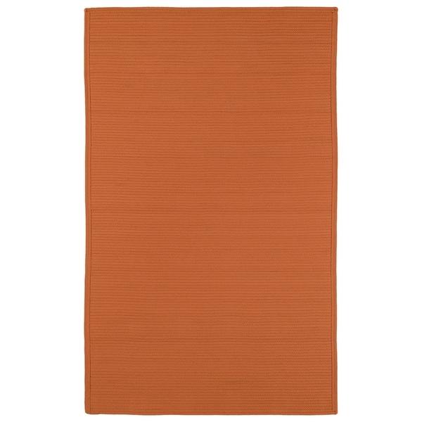Indoor/ Outdoor Malibu Woven Orange Rug