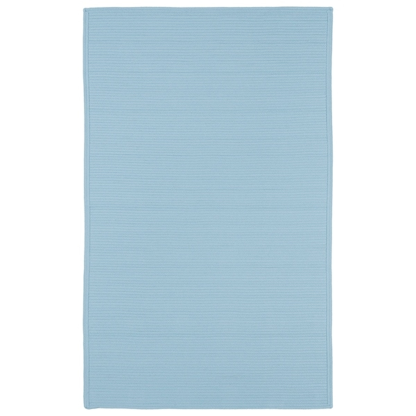 Indoor/ Outdoor Malibu Woven Light Blue Rug (8' x 11')