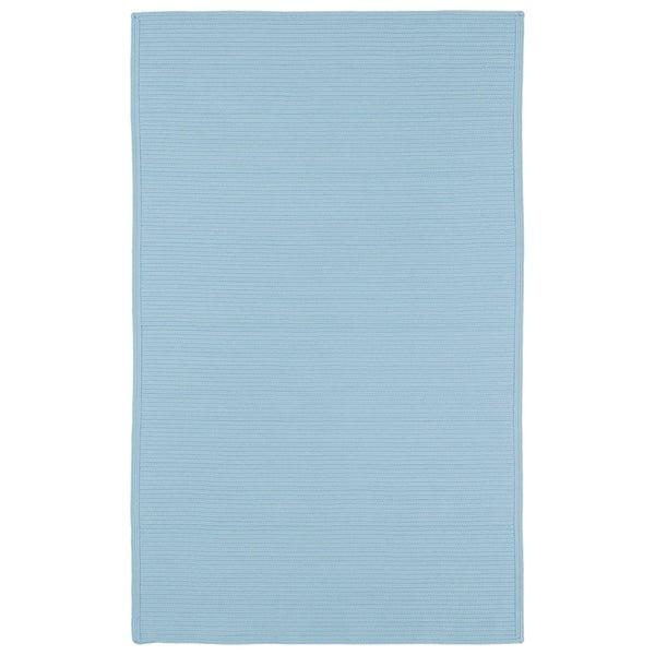 Indoor/ Outdoor Malibu Woven Light Blue Rug (2' x 3') - 2' x 3'
