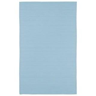 Indoor/ Outdoor Malibu Woven Light Blue Rug (2' x 3')