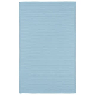 Indoor/ Outdoor Malibu Woven Light Blue Rug (5' x 8') - 5' x 8'