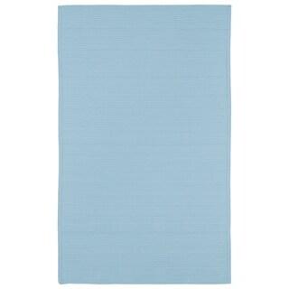Indoor/ Outdoor Malibu Woven Light Blue Rug (5' x 8')