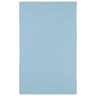 Indoor/ Outdoor Malibu Woven Light Blue Rug (3' x 5') - 3' x 5'