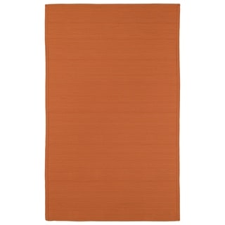 Indoor/ Outdoor Malibu Woven Orange Rug (5' x 8') - 5' x 8'