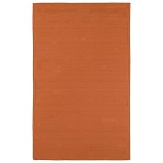 Indoor/ Outdoor Malibu Woven Orange Rug (5' x 8')