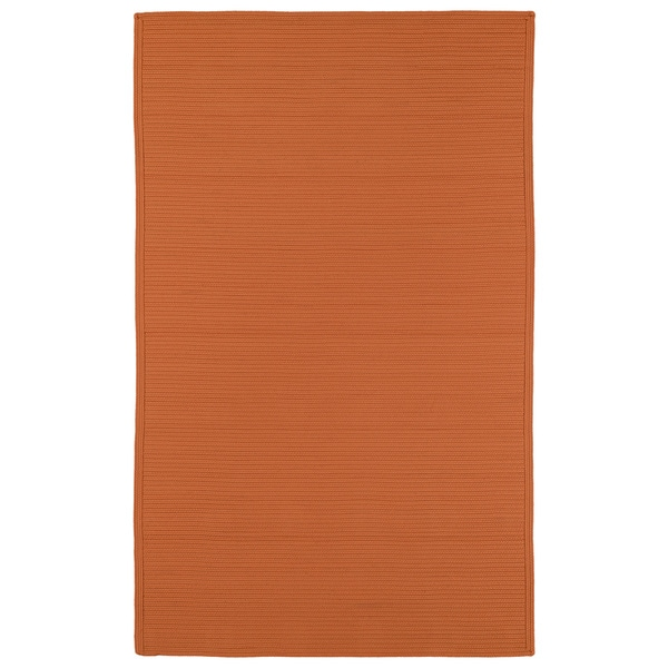 Indoor Outdoor Malibu Woven Orange Rug 9 x 12 Free