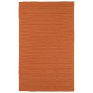 Indoor/ Outdoor Malibu Woven Orange Rug (9' x 12') - 9' x 12'