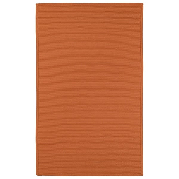 Shop Indoor Outdoor Malibu Woven Orange Rug 9 X 12