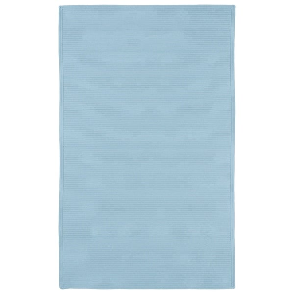 Indoor/ Outdoor Malibu Woven Light Blue Rug